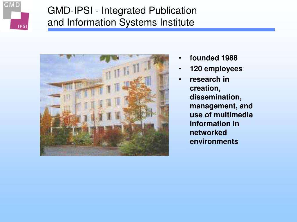 PPT   Matthias Hemmje GMD IPSI   Integrated Publication and ...