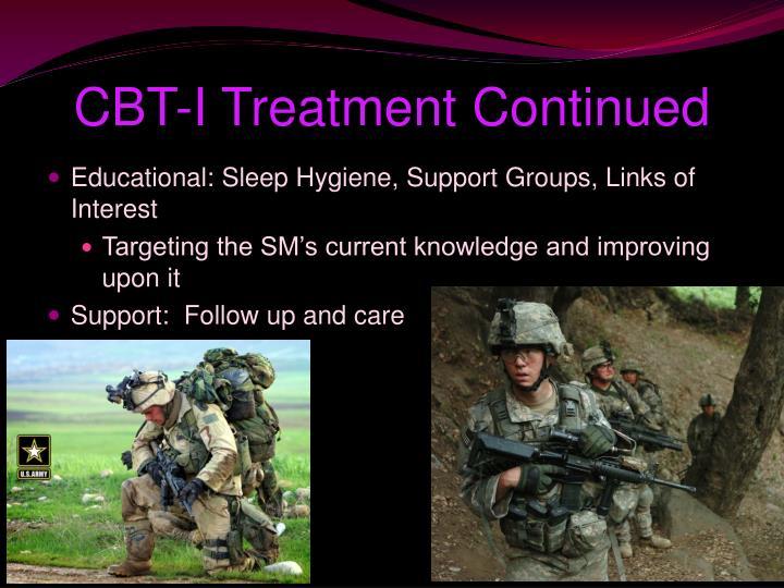 CBT-I Treatment Continued