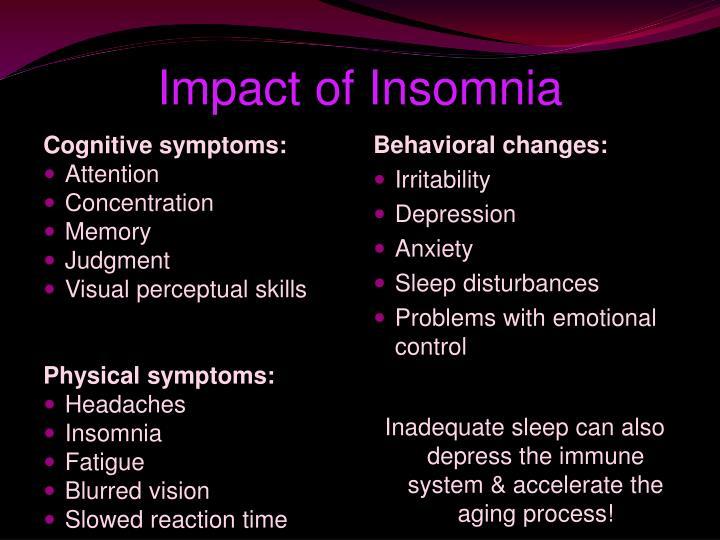 Impact of Insomnia