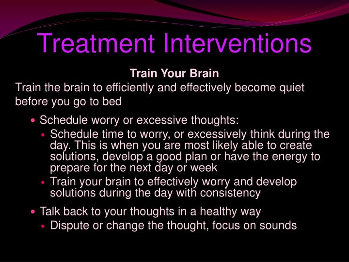 Treatment Interventions