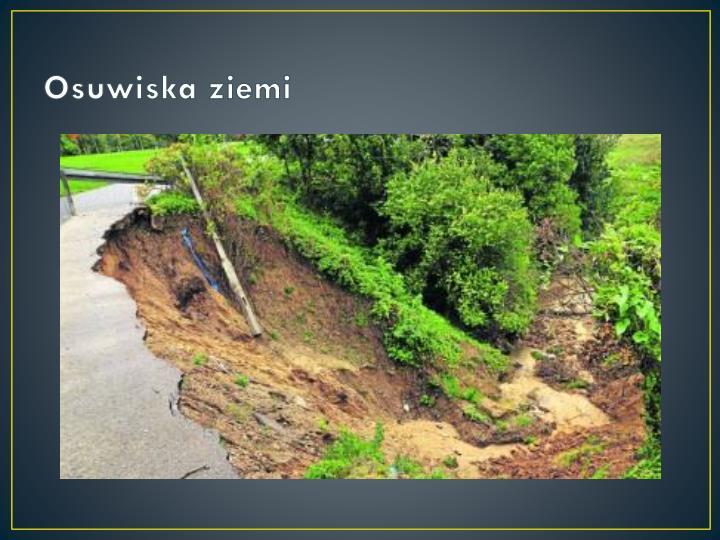 Osuwiska ziemi