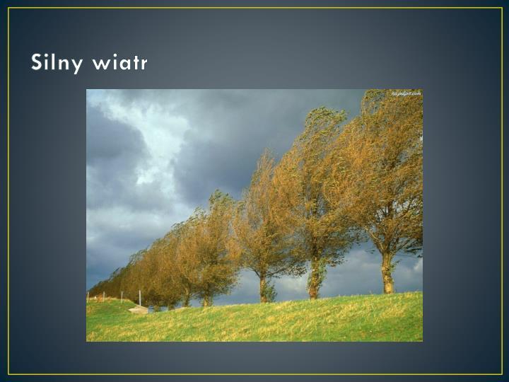 Silny wiatr