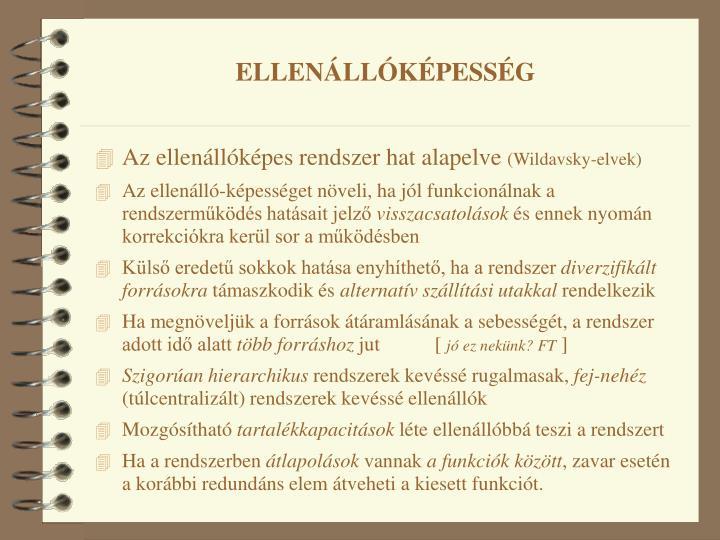 ELLENÁLLÓKÉPESSÉG