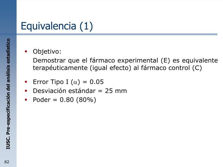 Equivalencia (1)