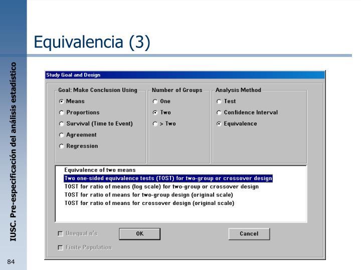 Equivalencia (3)