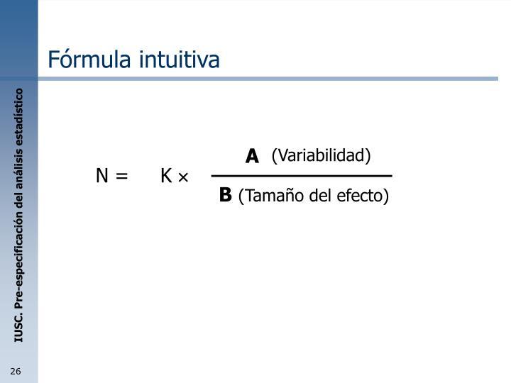 Fórmula intuitiva