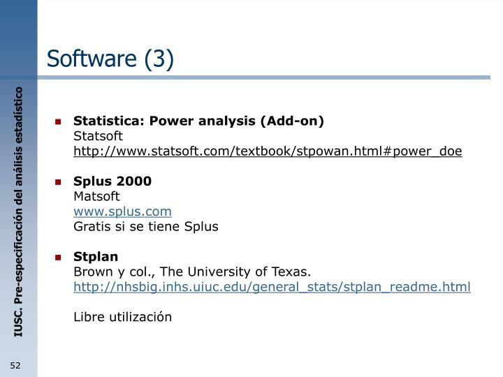 Software (3)
