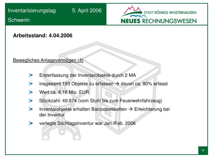 Arbeitsstand: 4.04.2006