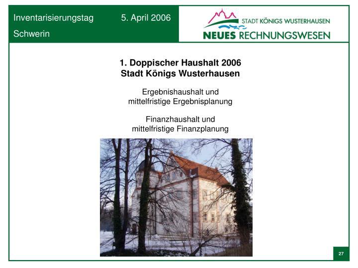 1. Doppischer Haushalt 2006