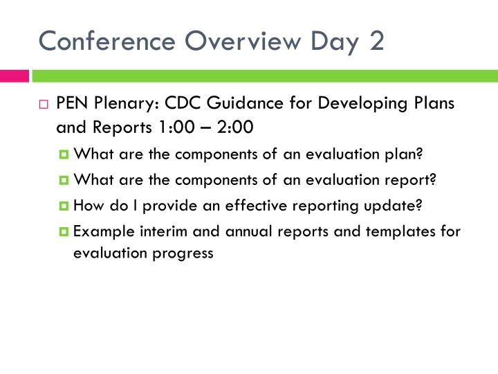 Conference Overview Day 2