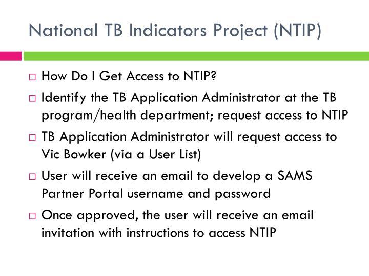 National TB Indicators Project (NTIP)