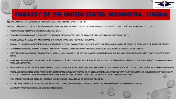 Embassy Of The United States: Monrovia - Liberia
