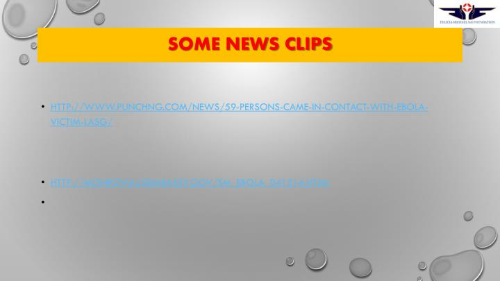Some news clips