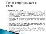 testes emp ricos para o capm14