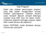 sub program