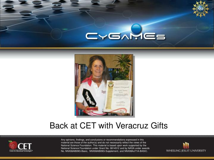 Back at CET with Veracruz Gifts