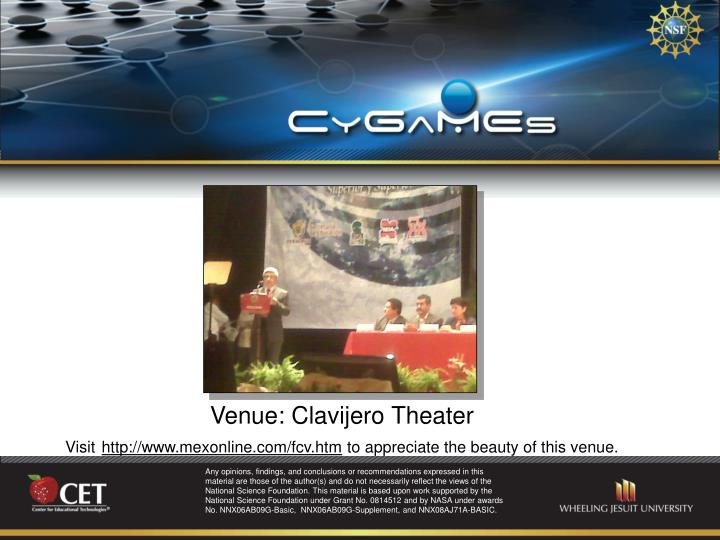 Venue: Clavijero Theater