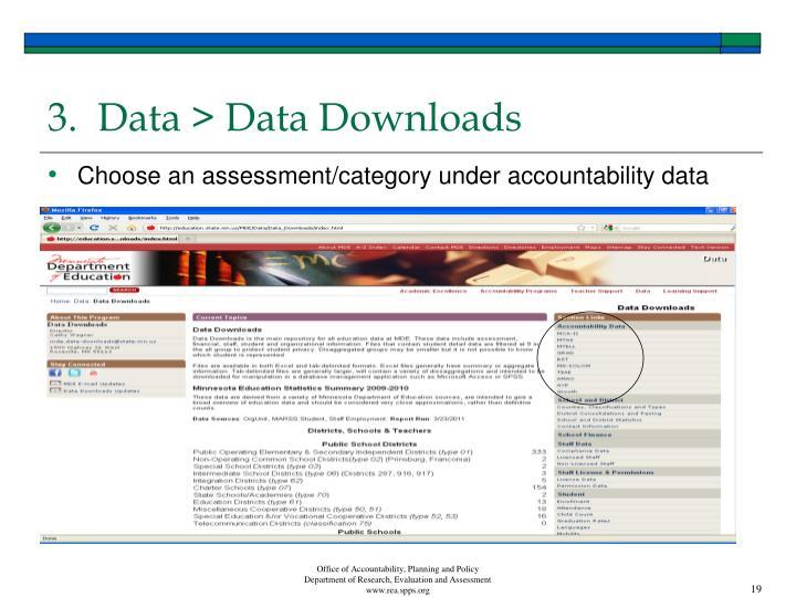 3.  Data > Data Downloads
