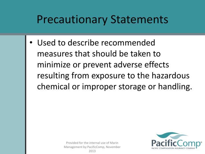 Precautionary