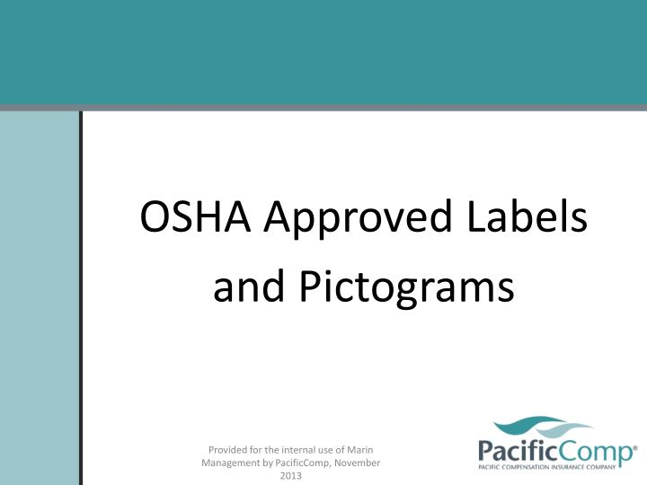OSHA Approved Labels