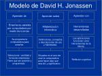modelo de david h jonassen