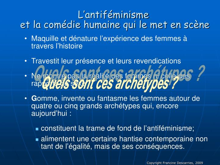 L'antiféminisme