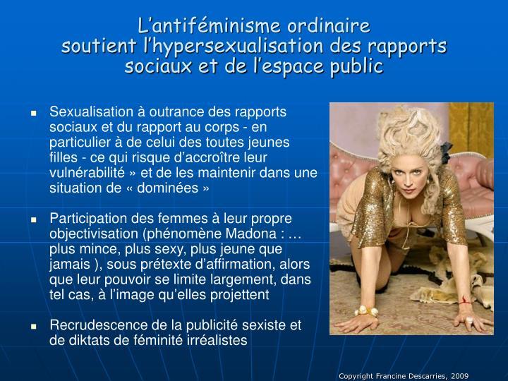 L'antiféminisme ordinaire