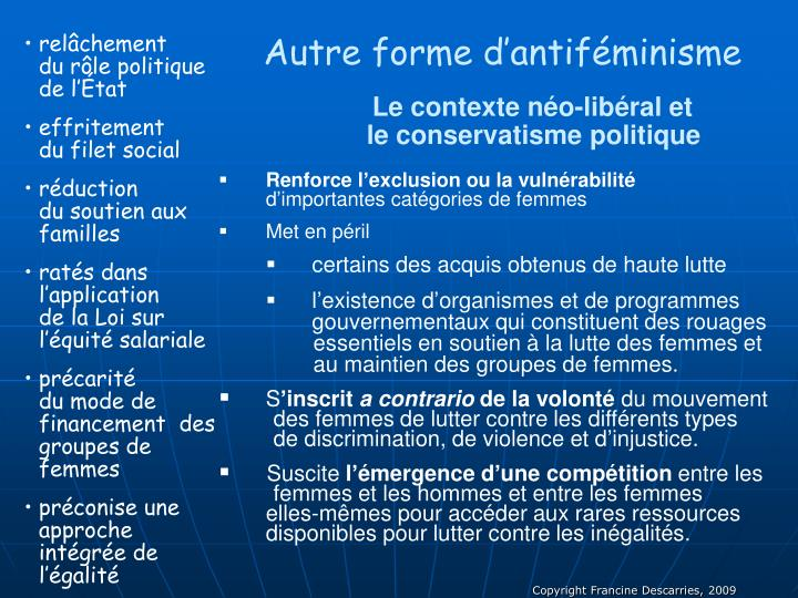 Autre forme d'antiféminisme