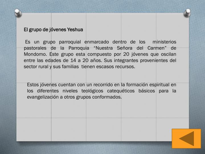 El grupo de jóvenes Yeshua