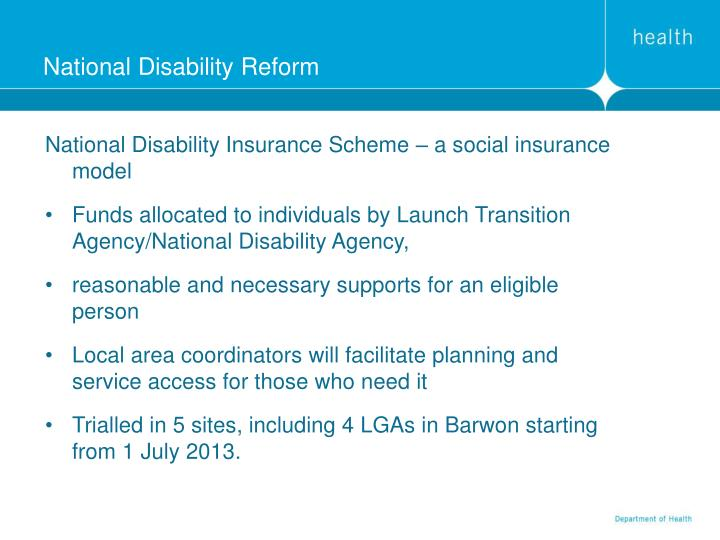 National Disability Reform