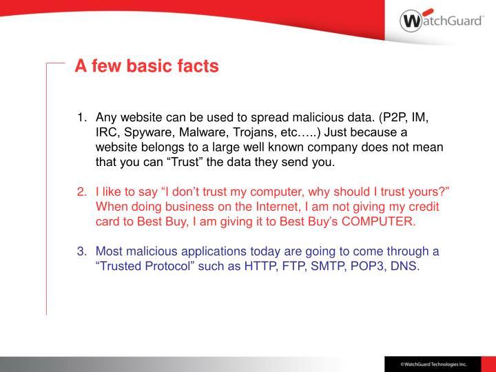A few basic facts