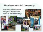 the community rail community
