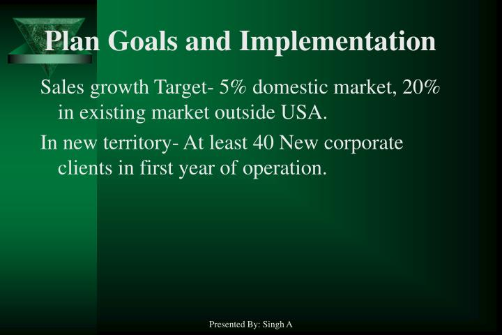 Plan Goals and Implementation