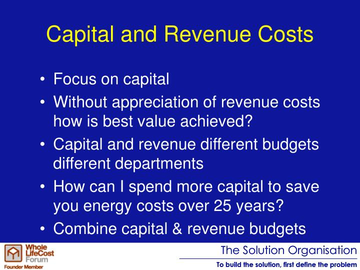 Capital and Revenue Costs