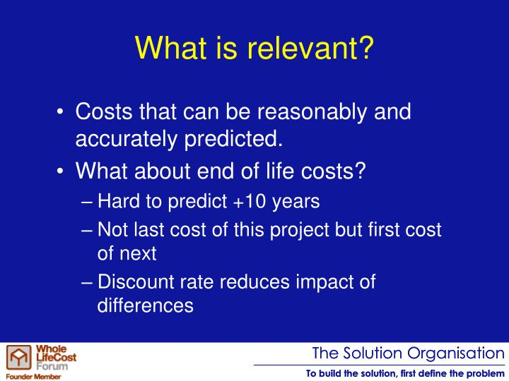 What is relevant?