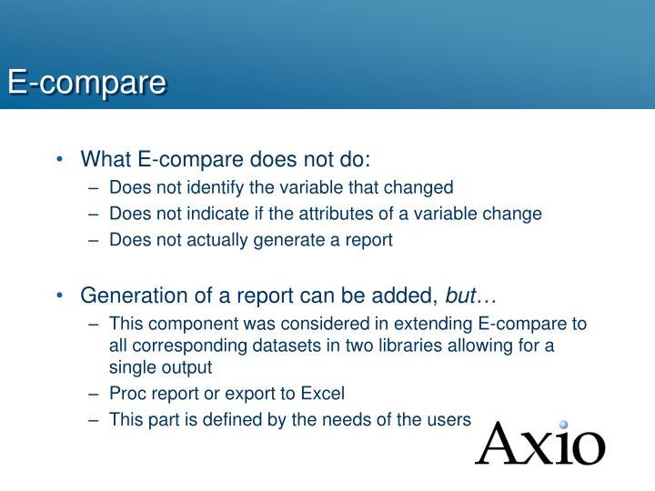 E-compare