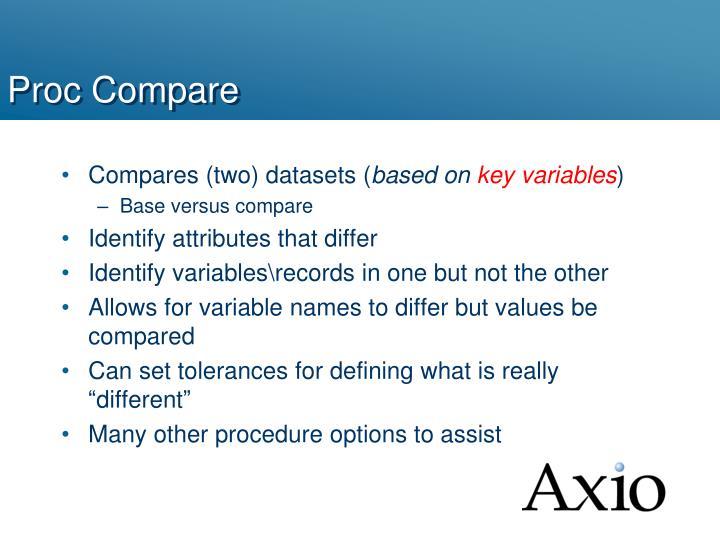 Proc Compare