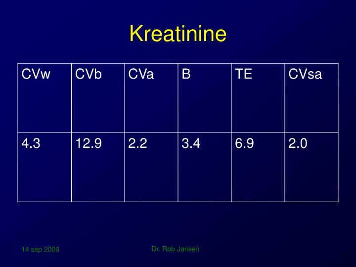 Kreatinine
