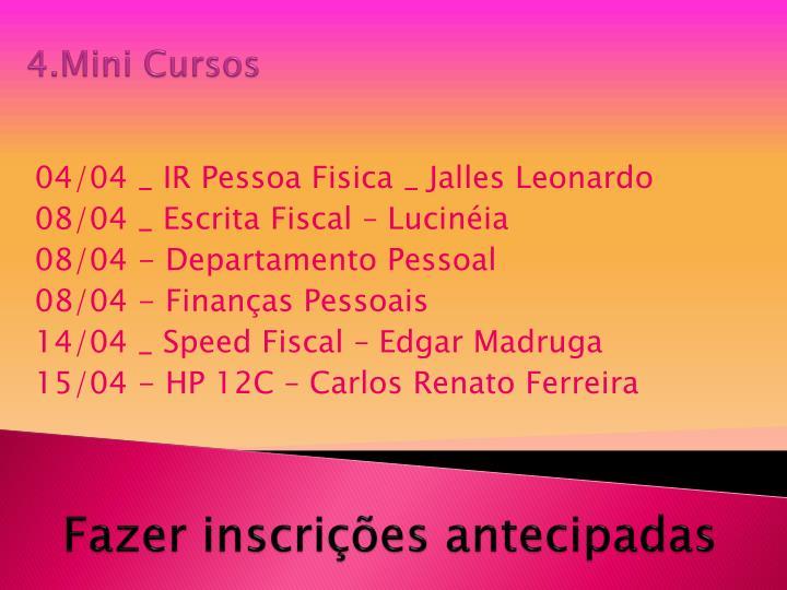 4.Mini Cursos