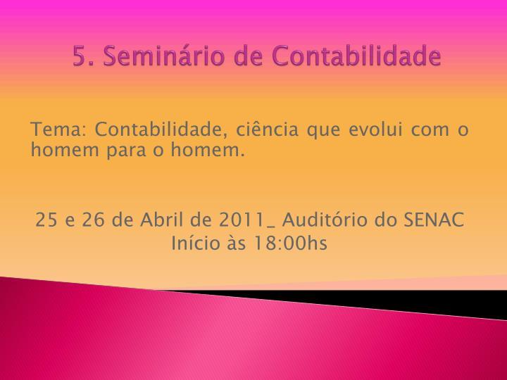 5. Seminário de Contabilidade