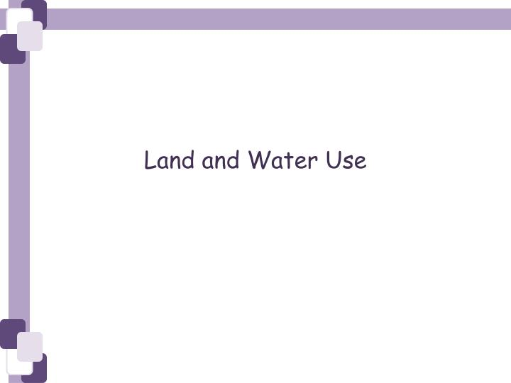 land and water use n.