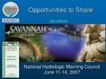 opportunities to share