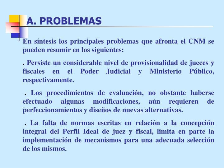 A. PROBLEMAS