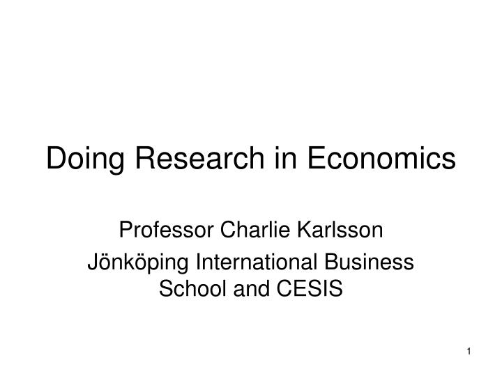 doing research in economics n.