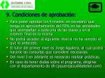 9 condiciones de aprobaci n