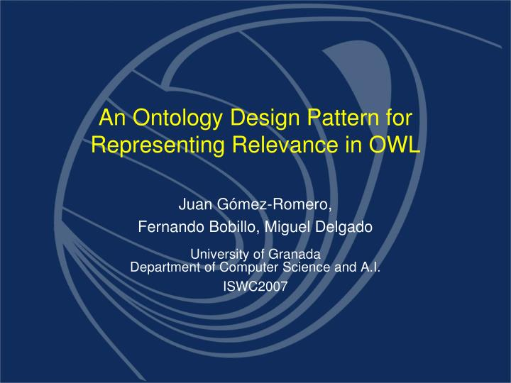 an ontology design pattern for representing relevance in owl n.