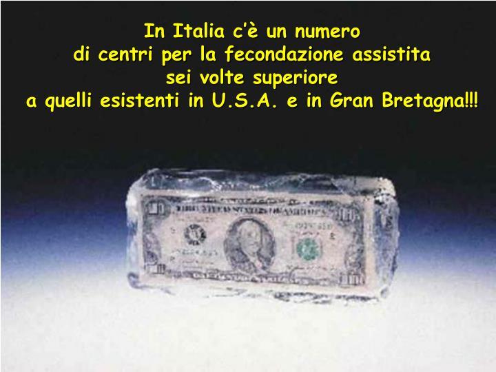 In Italia c'è un numero