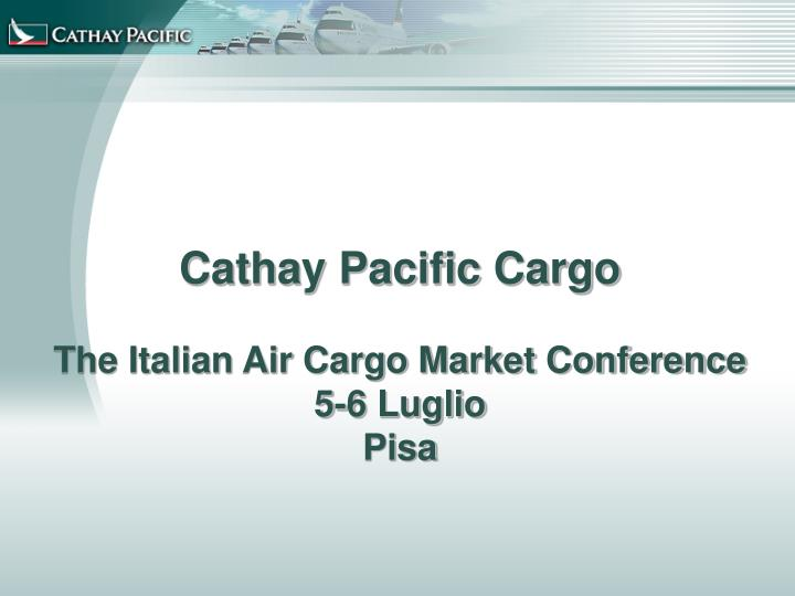 value chain analysis of cathay pacific 16 working with our supply chain and they are now adding value to the business  cathay pacific is an international airline registered and based in.