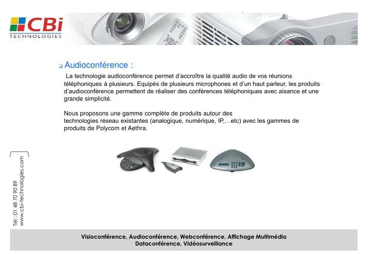 Audioconférence :