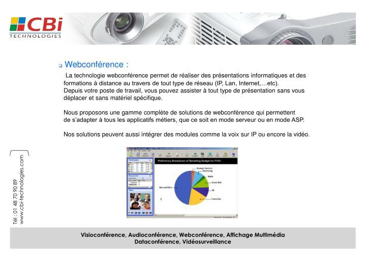 Webconférence :
